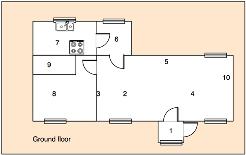 floorplan of ground floor